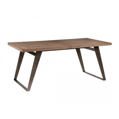 Industrial Rectangle Warm Wood & Metal Dining Table