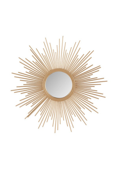 Gold Bursting Star Sun Wall Mirror