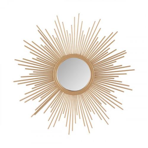 Gold Bursting Star Sun Wall Mirror Small