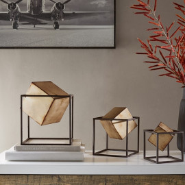 Geometric Cube Decor Set of 3
