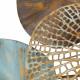 Gold & Patina Metal Lily Pads Wall Art Set 2
