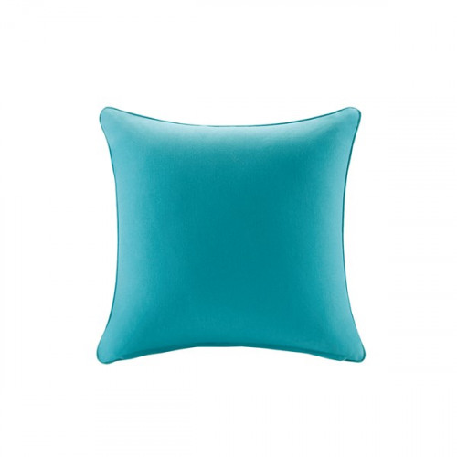 Solid Teal Indoor Outdoor Square Pillow