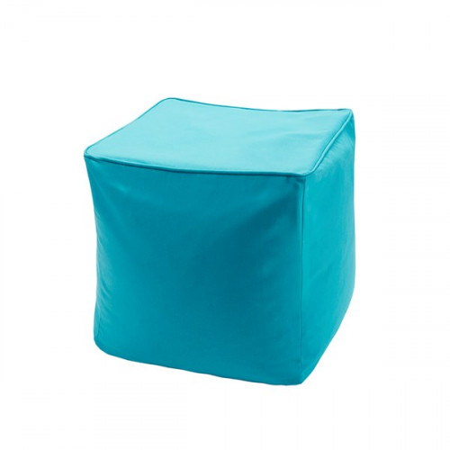 Teal Indoor Outdoor Square Pouf