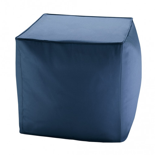 Navy Blue Indoor Outdoor Square Pouf