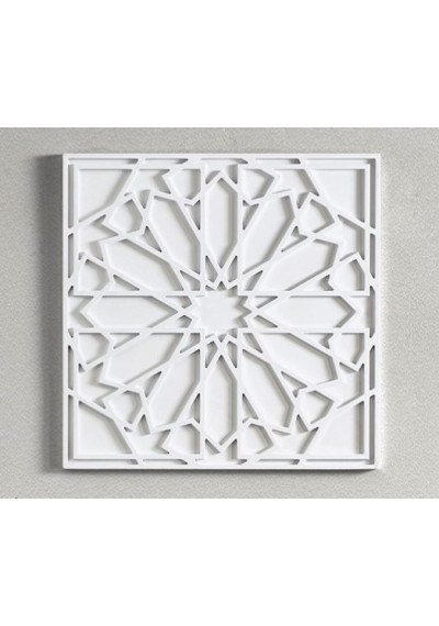 Square Wood Geometric Design Boho Style Wall Art