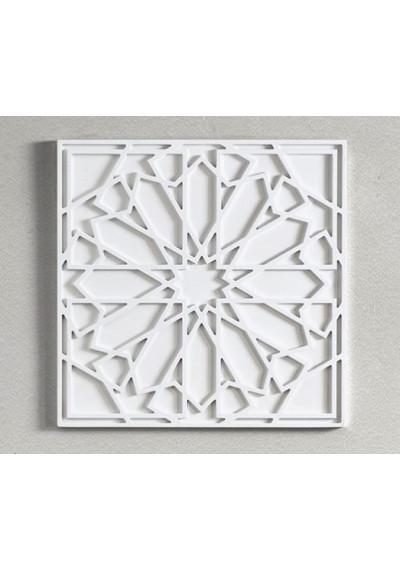 Square Wood Geometric Design Boho Style Wall Art