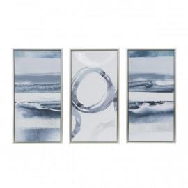 Modern Grey White Silver Foil Framed Wall Art