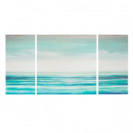 Calm Blue Teal Ocean Canvas Wall Art