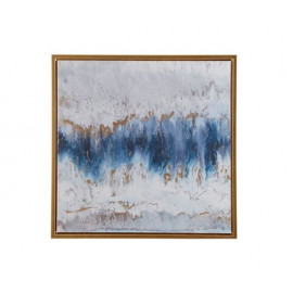 Abstract Blue Sea Water Storm Wall Art