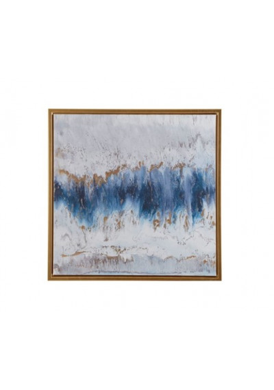 Abstract Blue Sea Water Storm Wall Art