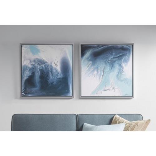 Blue Storms Framed Wall Art Set of 2