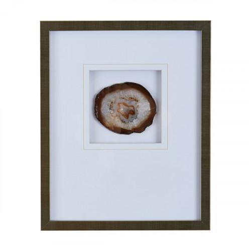 Agate Stone Piece Framed Wall Art