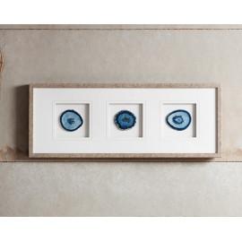 Blue Agate Stone Framed Wall Art