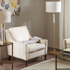 Cream Colored Big Pillow Accent Chair