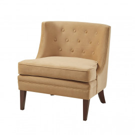 Yellow Gold Fabric Contemporary Accent Chair