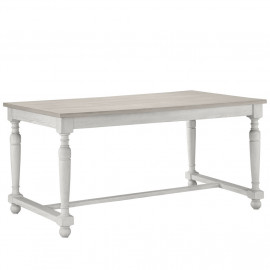 Rectangle Cream &  Natural Top Classic Farmhouse Dining Table