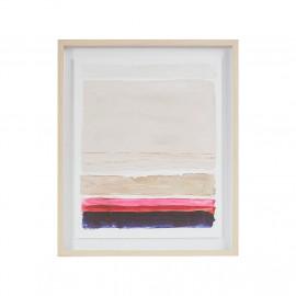 Soft Color Striped Design Under Glass Framed Wall Art