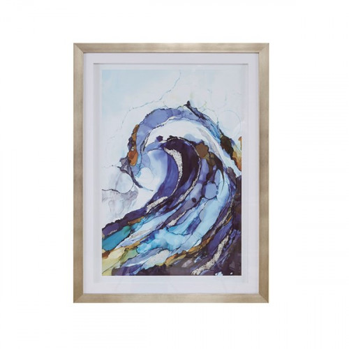 The Curl Wave Silver Frame Wall Art