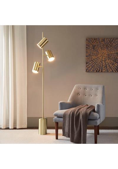 Gold Metal 3 Pendant Floor Lamp
