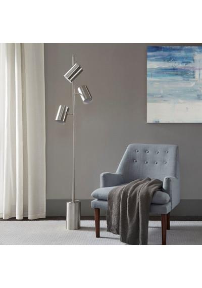 Silver Metal 3 Pendant Floor Lamp
