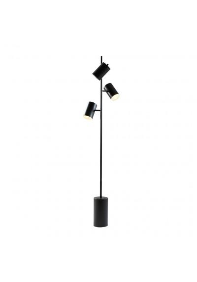 Black Metal 3 Pendant Floor Lamp