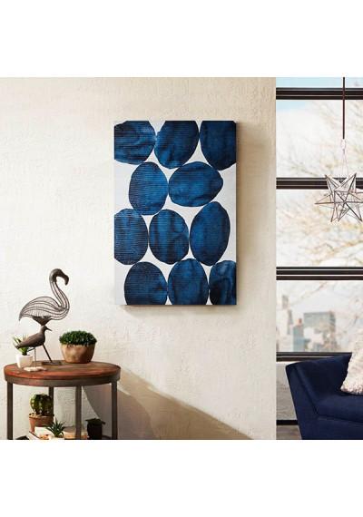 Royal Blue Baubles & Stones Canvas Wall Art