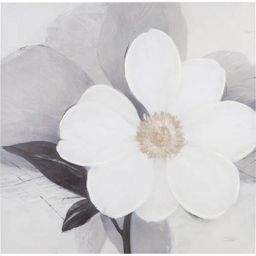 Big White Flower Canvas Wall Art
