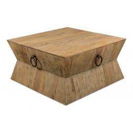 Reclaimed Wood & Iron Hour Glass Shaped Coffee Table