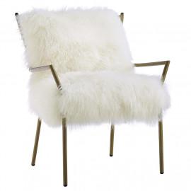 Fluffy White Sheepskin Chair