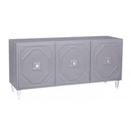 Grey Lacquer Acrylic Leg Buffet Sideboard