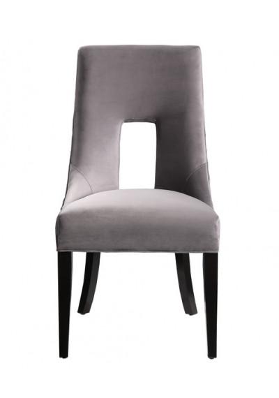 Grey Velvet Accent Dining Chair