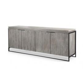 Grey Elm Industrial ish Buffet Sideboard