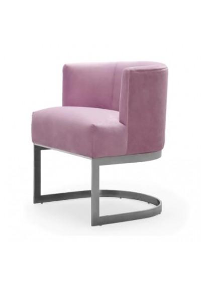 Blush Violet Velvet Salon Accent Chair