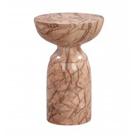 Modern Form Cocoa Brown Swirl Marble Accent Side Table