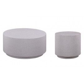 Terrazzo Stone 2 Piece Cocktail Accent Table Set