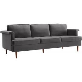 Grey Velvet Cosmopolitan Sofa