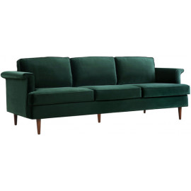 Deep Forest Green Velvet Cosmopolitan Sofa