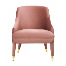 Pink Blush Velvet Slide Arm Accent Chair