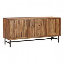 Rustic Industrial Acacia Wood Buffet Sideboard