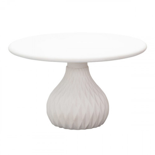 Ivory Round Concrete Indoor Outdoor Coffee Table