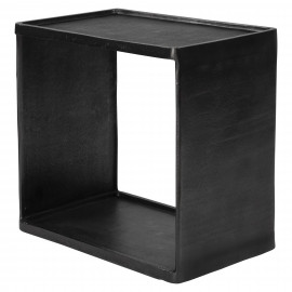 Dark Bronze Metal Tray Style Top Industrial Accent Side Table