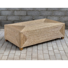 Casual Woven Rattan Rectangular  Coffee Table