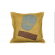 Abstract Negative Space Peach Abstract Pillow