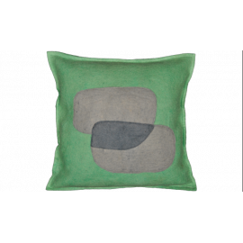 Abstract Color Splash Blues Throw Pillow