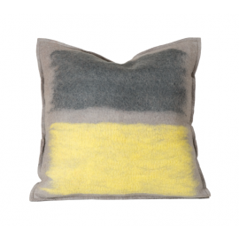 Abstract Stone Color Splash Felted Wool Throw Pillow