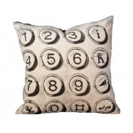 Graphics Pillow Collection - Type Keys