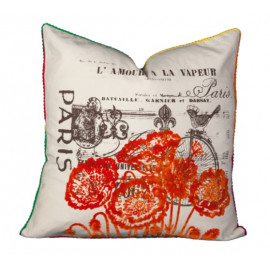 Graphics Pillow Collection - Paris Fleur