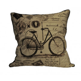 Graphics Pillow Collection - Bicycle Postcard