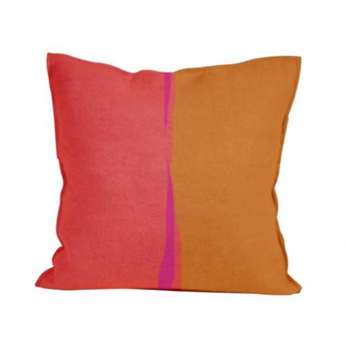 Abstract Color Splash Fuego Throw Pillow