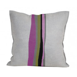 Abstract Color Splash Purple Haze Throw Pillow